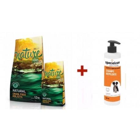 Satisfaction Nature Salmón + Champú Repelente Specialcan