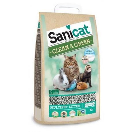 Sanicat Lecho higienico de Papel y celulosa Clean & Green celulosa